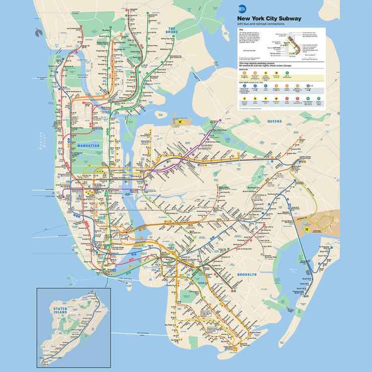The L (grey) line runs East and West. The 4-5-6 (green) line runs North and South on the East side of Manhattan, the island on the left.