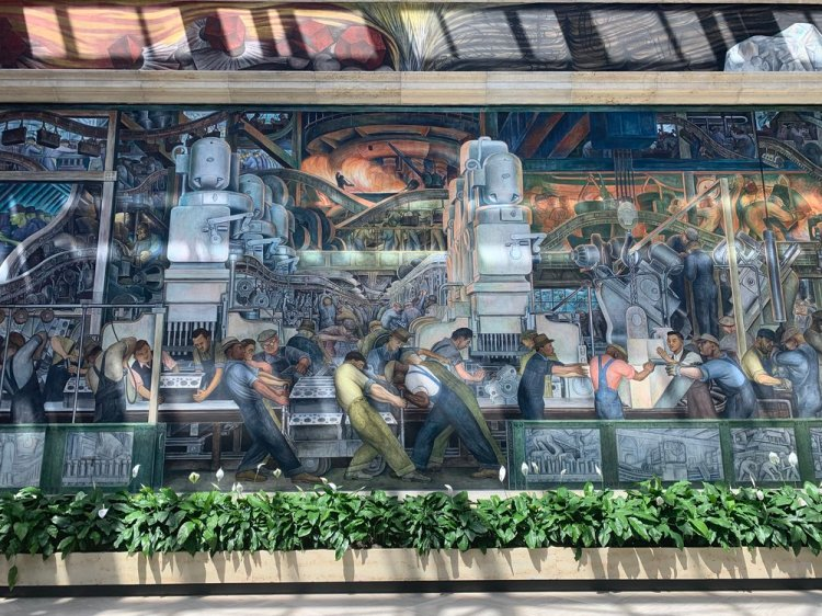 The  Detroit Industry Murals  by Diego Rivera