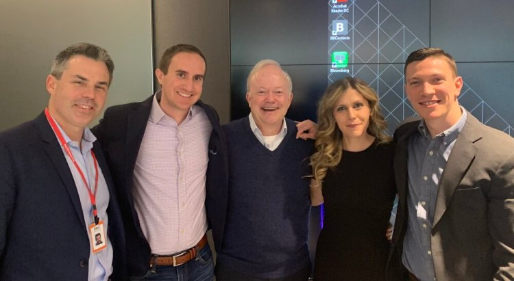 Speaking with Morgan Housel, Jim O'Shuaghnessy, Christie Hamilton, and Eric Balchunas at Bloomberg in Washington D.C