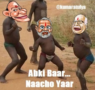 Meanwhile at the #BJP HQ, Its party time bitches! #Elections2014 #ExitPolls2014