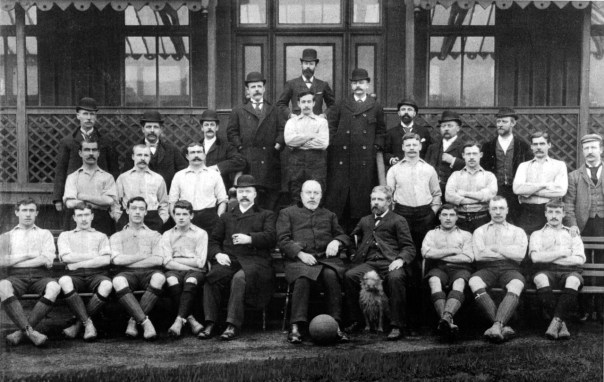 1892 LFC & Directors, outside the rear of the Sandon Hotel