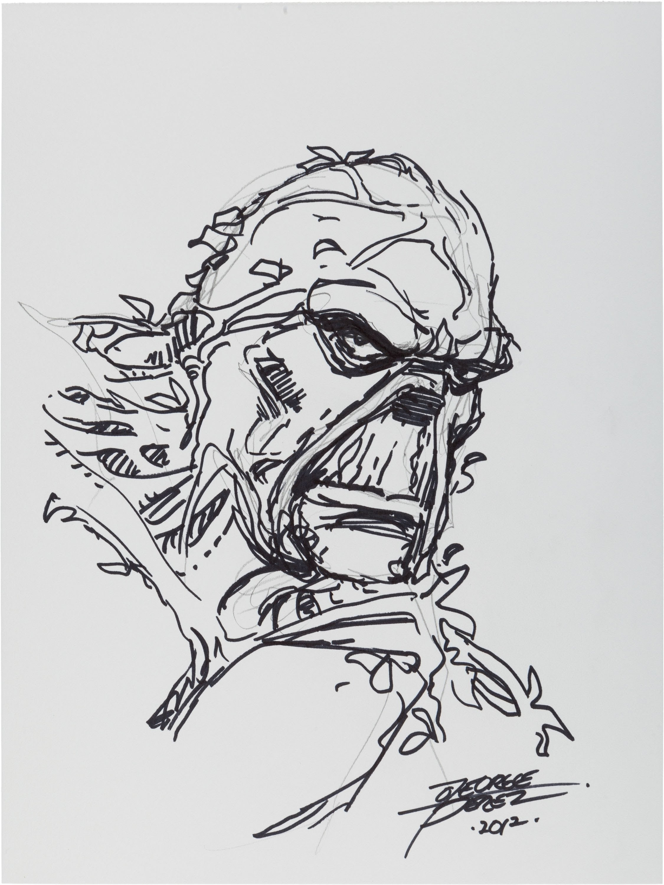 Swamp Thing Art By George Perez From Heritage