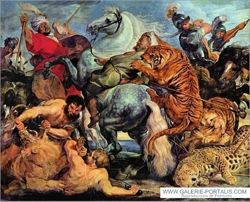 Lion and Tiger hunting by Rubens.jpg