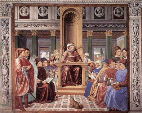gozzoli-st-augustine-teaching-in-rome-scene-6-south-wall-1464-1465-fresco-220-x-230-cm-apsidal-chapel-sant-agostino-san-gimignano-italy