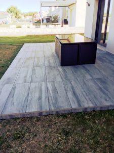 Terrasse sur Plots 1 - PEREZ Carrelages & Marbrerie - Augny 57685
