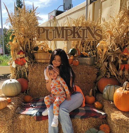 Kylie Jenner and Stormi at the pumpkin patch