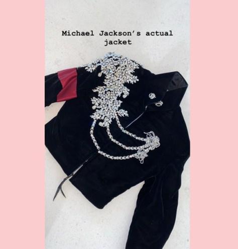 Michael Jackson Jacket Kim Kardashian Instagram