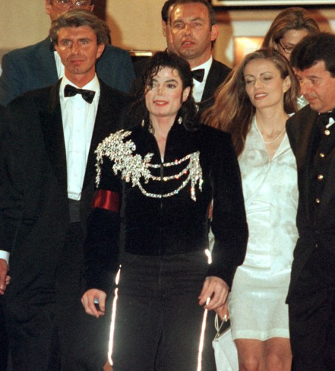 Michael Jackson wearing the jacket at the Cannes Film Festival in 1997