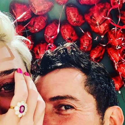 Orlando Bloom's engagement ring to Katy Perry