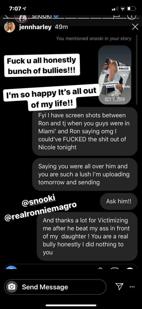 Jen Harley Ronnie Ortiz Magro Instagram controversy drama Snooki