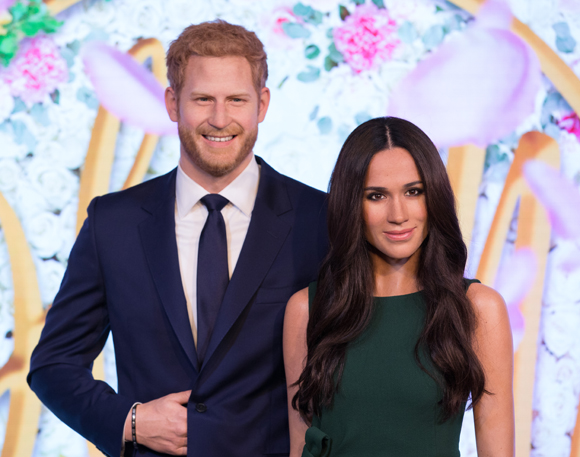 Madame Tussauds wax versions of Prince Harry and Meghan Markle