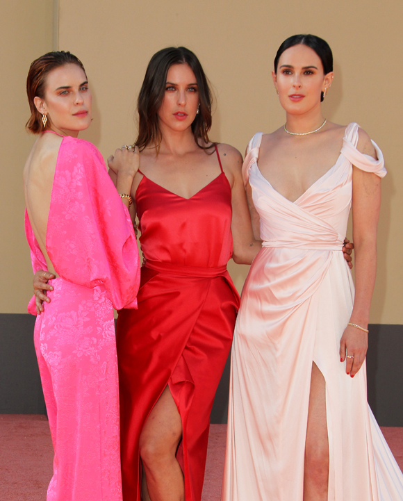 Tallulah Scout and Rumer Willis at the premiere of Once Upon A Time In Hollywood in 2019