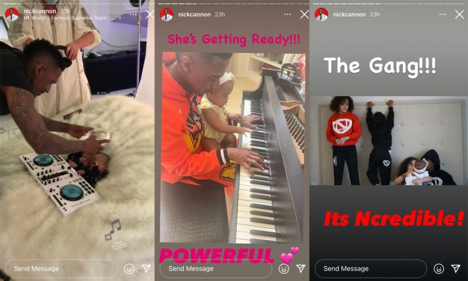 Nick Cannon shows pictures from a fun outdoor outing parenting his seven kids!