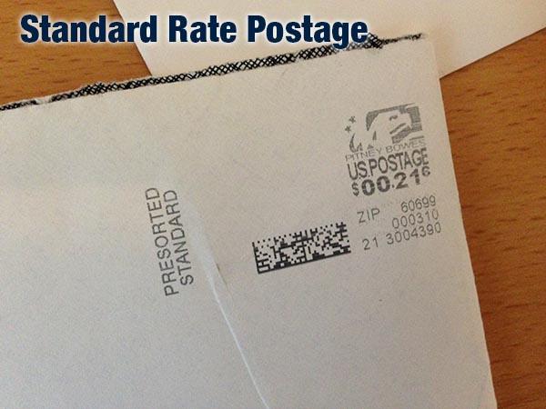 Standard Rate Postage