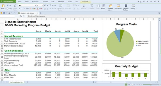 Free Spreadsheet Software For Windows 10 | Spreadsheets