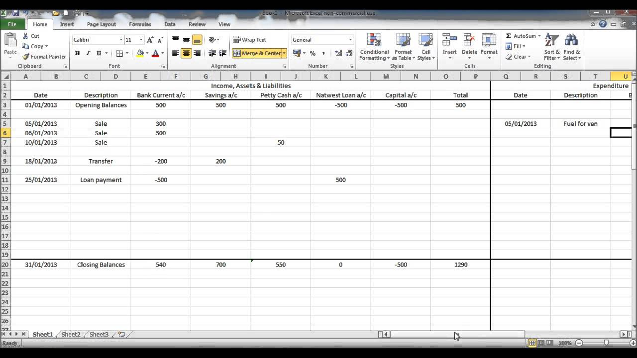 Accounting Spreadsheet Templates Excel | Spreadsheets
