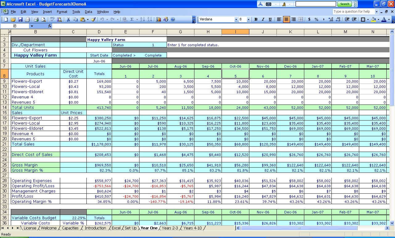 Business Income And Expenses Worksheet Spreadsheets