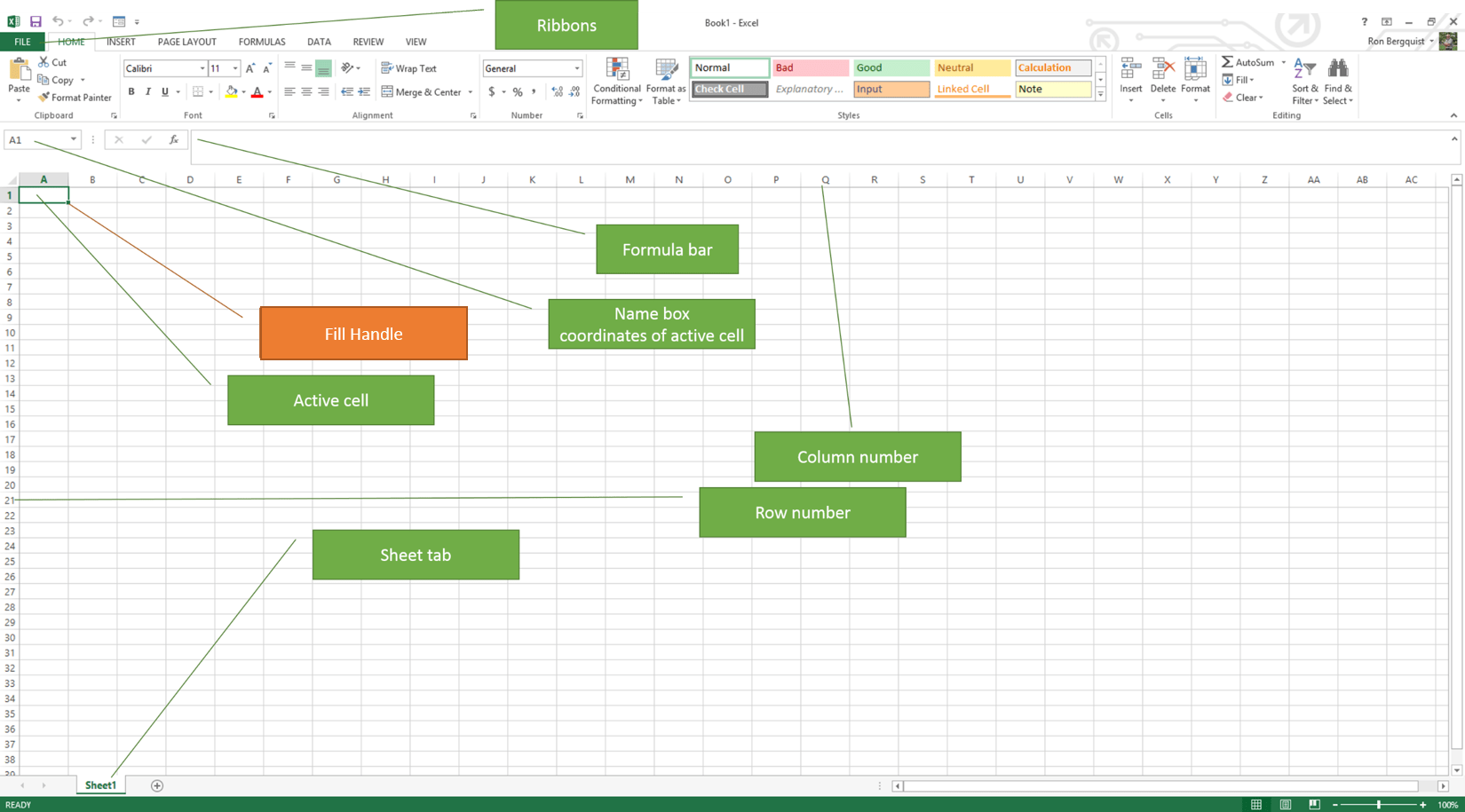 Components Of A Spreadsheet Spreadsheets