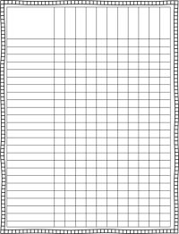 Blank Spreadsheet To Print | Spreadsheets