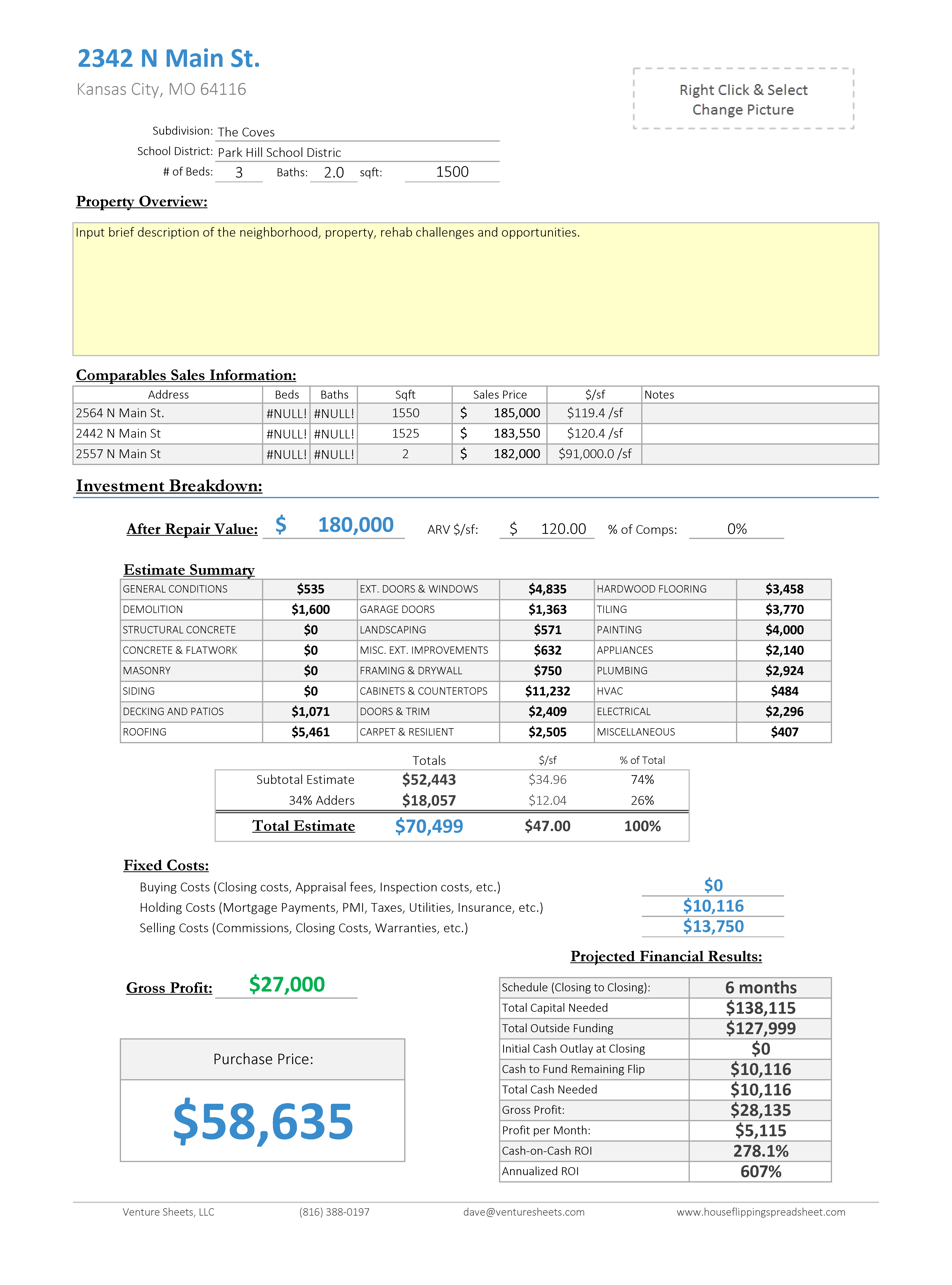 Residential Load Calculation Spreadsheet