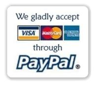 We gladly accept credit cards thru Paypal