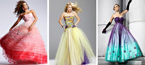 Stunning, Colorful Bridal Gowns