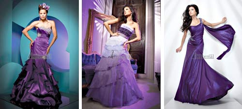 Luxurious Purple Wedding Dress Collection