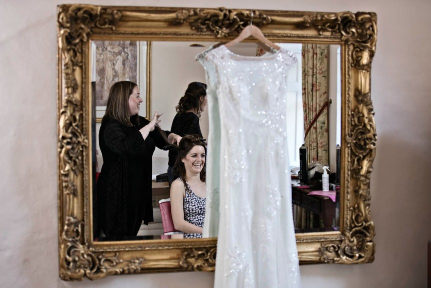 bridal preparation photography gosfield hall