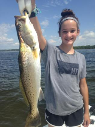 cape san blas fishing charters speckled trout kids