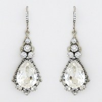 Haute Bride Jewelry | Crystal Teardrop Chandelier Earrings