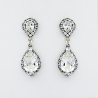 Haute Bride Wedding Earrings | Crystal Teardrop Bridal ...