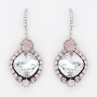 Haute Bride Jewelry | Clear & Rosewater Crystal Bridal ...