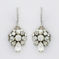 Haute Bride | Petite Filigree Crystal Bridal Earrings with ...