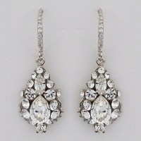 Haute Bride Earrings, EC507 | Petite Rhinestone Drop ...