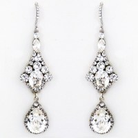 Haute Bride Earrings | Bridal Chandelier Earrings with ...