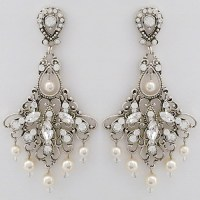 Laura Jayne Bridal Earrings | Vintage Wedding Chandelier ...