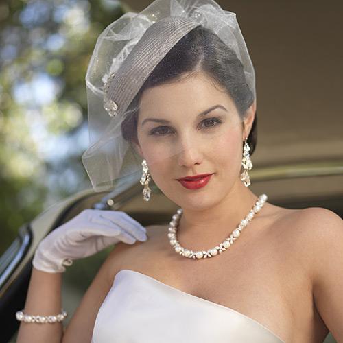 Laura Jayne Bridal Hat With Veil Amp Ornament Platinum Ivory
