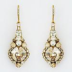 Haute Bride Earrings | Crystal & Pearl Designer Bridal ...
