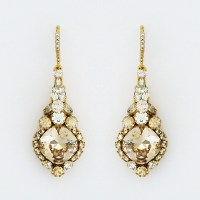 Haute Bride | Gold Vintage Crystal Drop Earrings, Bridal ...