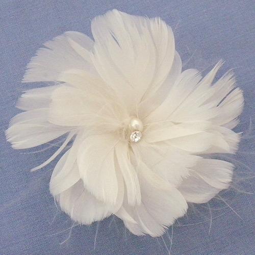 Laura Jayne Bridal Hair Flowers April Wedding Feather