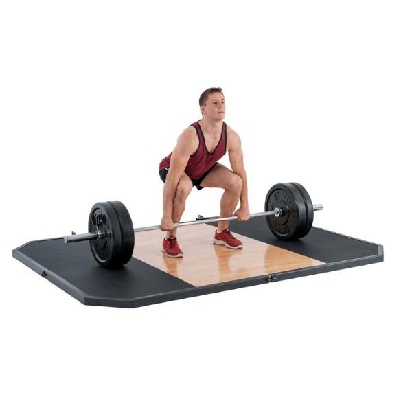 York Barbell Oak 8′ X 6′ Free Standing Lifting Platform