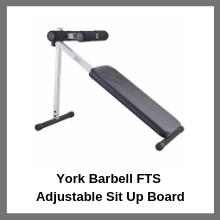 York Barbell FTS Adjustable Sit Up Board