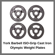 York Barbell ISO-Grip Cast Iron Olympic Weight Plates