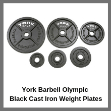 York Barbell Olympic Black Cast Iron Weight Plates