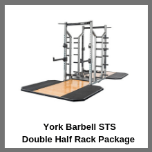 York Barbell STS Double Half Rack Package