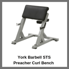 York Barbell STS Preacher Bench