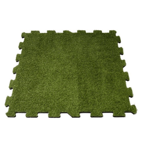 Artificial Grass Rubber Interlocking 1m x 1m Rubber Tile