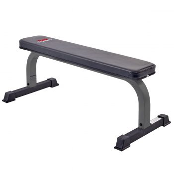 York Barbell FTS Flat Bench - Clearance. Grey