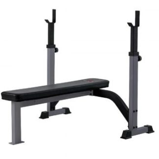 York Barbell FTS Olympic Fixed Flat Bench Grey