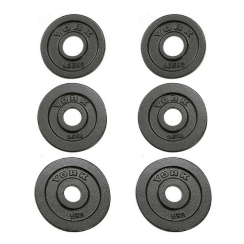 York Barbell Cast Iron Olympic Change Plate Set 17.5kg